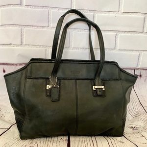 COACH Taylor Alexis Carryall tote in black leather
